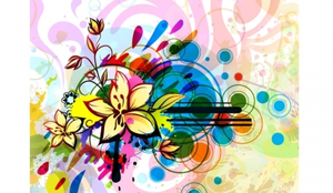 Abstract Floral Illustration Image