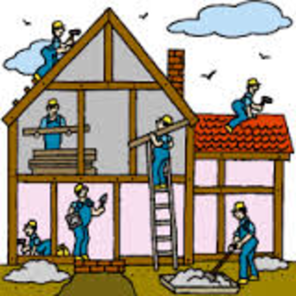 Building A New House Cartoon : Construction free images at clker vector clip art