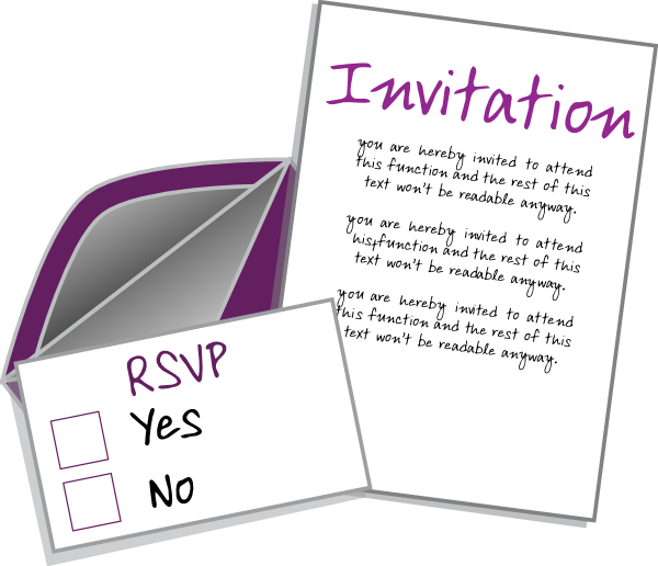 My Wedding Invite Clip Art At Clker Com: Invite Card Clip Art At Clker.com