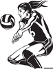 Free Clipart Volleyball Player Image