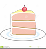 Angel Food Cake And Clipart Image