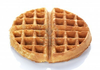 Round Waffle On A White Background Image