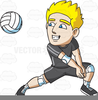Free Volleyball Player Clipart Image