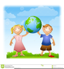 Earth Hands Clipart Image