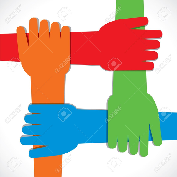 hands joined together clipart free images at clker com vector