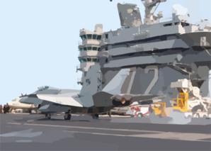 Hornet Makes An Arrested Landing On The Flight Deck Clip Art