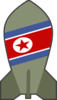 Simple Cartoon North Korea Bomb Clip Art