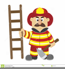 Free Fire Fighter Clipart Image
