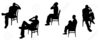 Person Sitting On Chair Clipart Image