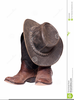 Cowboy Boots And Hats Clipart Image