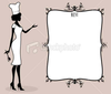 Stock Illustration Cute Chef And Frame Image