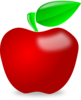 Red Glossy Apple Clip Art