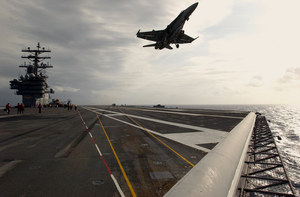 Uss Ronald Reagan (cvn 76) Flight Deck Certifications. Image