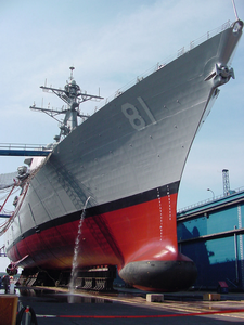 Uss Churchill Docked At Bath Iron Works During Psa. Image