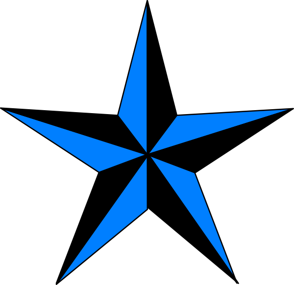 Blue Amp Black Texas Star Clip Art At Clker Com Vector