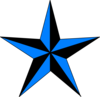Blue & Black Texas Star Clip Art