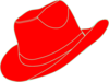 Red Cowgirl Hat  Clip Art