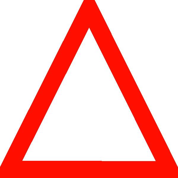 dark red triangle clip art at clkercom vector clip art