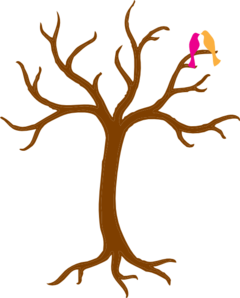 Bare Tree With Love Birds Clip Art
