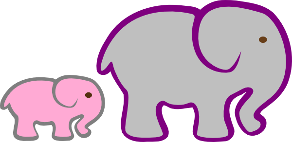 gray elephant free clip art - photo #35