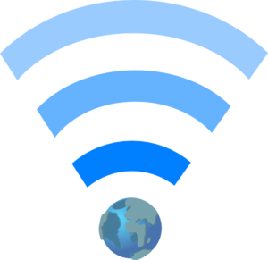 Wifi Symbol With Earth Clip Art