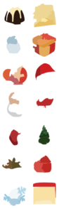 Christmas Icons Set Full Preview Clip Art
