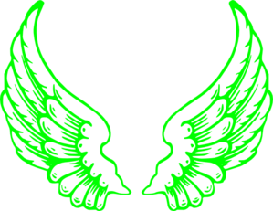 Lime Green Wings Clip Art