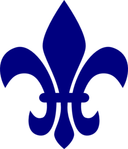 royal blue fleur de lis clip art at clker com vector clip art rh clker com