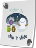 Paradise Ticket Slip N Slide Clip Art