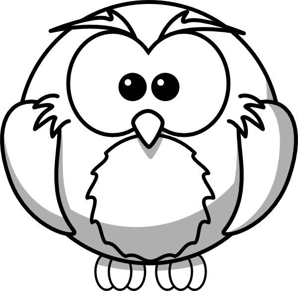 Owl Outline Clip Art at Clker