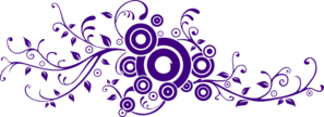 Purple Flourish Clip Art
