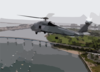 An Sh-60 Seahawk Flys Near Naval Amphibious Base Coronado Armed With An Agm-119 Clip Art
