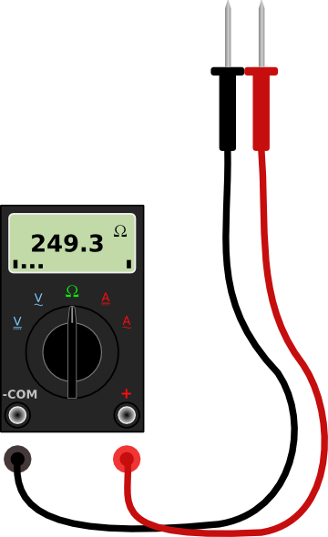 Ammeter Clip Art : Digital multimeter with leads clip art at clker