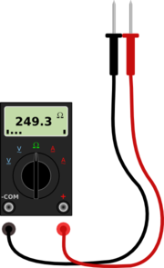 Digital Multimeter With Leads Clip Art