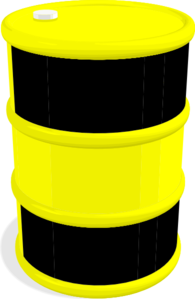 Oil Barrel Black And Yellow Clip Art