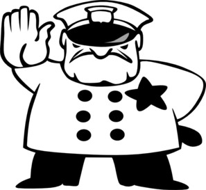 Policeman Black And White Clip Art