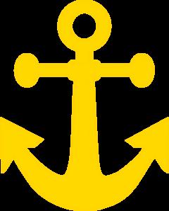 Dark Yellow Anchor Clip Art