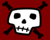 Skull And Crossbones With Red Background Clip Art