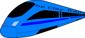 The Clay Train Clip Art