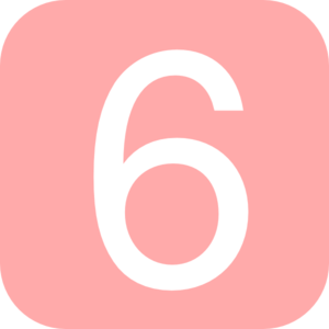 red rounded square with number 5 md png