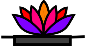 Lotus In Dish Clip Art