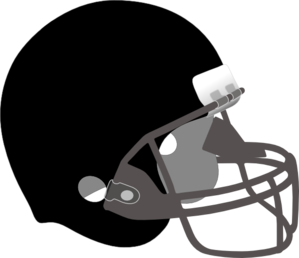 Black And Silver Helmet Clip Art