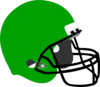 Kelly Green Football Helmet Clip Art