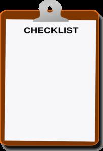Checklist Clip Art at Clker.com - vector clip art online, royalty free ...