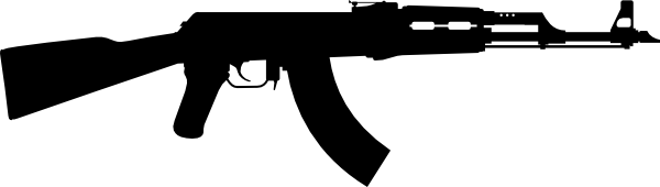 ak 47 one gun clip art at clker com vector clip art online rh clker com ak 47 vector image ak 47 vector png