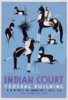 Indian Court, Federal Building, Golden Gate International Exposition, San Francisco, 1939 Antelope Hunt From A Navaho Drawing, New Mexico / Siegriest. Clip Art