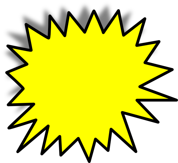 yellow starburst clipart - photo #29