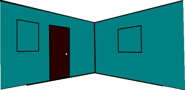 3d Room Interior (2 Walls, 2 Windows, Door Clip Art at ...