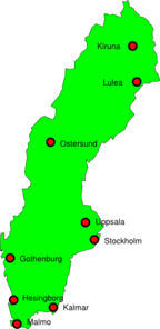 Sweden Outline Map Clip Art