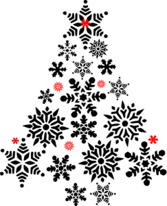 Snowflake Tree Black And Red Clip Art at Clker.com - vector clip ...